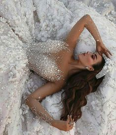 gorgeous gowns Discount Crystal Appliqued Mermaid Wedding Dresses Tulle Ball Gown Wedding Dress Sheer Long Sleeve Beach Bridal Gown Chapel Train Custom Made Bride Gown Chinese We Sheer Wedding Dress, Dream Wedding Dresses, Bridal Dresses, Wedding Dresses With Bling, Prom Dresses, Wedding Dress Princess, Amazing Wedding Dress, Beaded Wedding Dresses, Winter Wedding Dresses