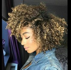 Blonde highlights and lowlights on natural hair curls natural pinterest renniebby follow for more pins natural curly hairnatural pmusecretfo Choice Image