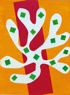 Available for sale from Artsnap, Henri Matisse, Algue blanche sur fond orange et rouge Pochoir print hand-colored in the Ateliers du Coloris Modern… Henri Matisse, Matisse Kunst, Matisse Art, Raoul Dufy, Collages, Matisse Cutouts, The Joy Of Painting, Picasso Paintings, Matisse Paintings