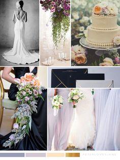 Light Purple, Peach and Black Glam Wedding Inspiration