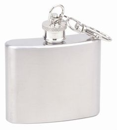 New 2 oz Stainless Steel Key Chain Liquor Alcohol Flask By Top Shelf Flasks