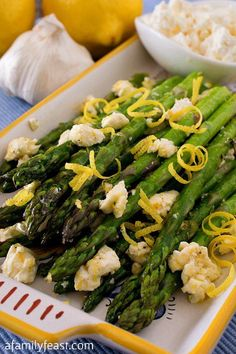 Asparagus With Lemon And Feta