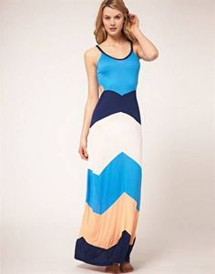Awesome Color block maxi dresses 2018-2019
