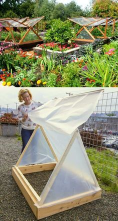 Get inspired ideas for your greenhouse. Build a cold-frame greenhouse. A cold-frame greenhouse is small but effective. Greenhouse Farming, Build A Greenhouse, Greenhouse Ideas, Diy Small Greenhouse, Homemade Greenhouse, Cheap Greenhouse, Greenhouse Wedding, Tunnel Greenhouse, Organic Gardening