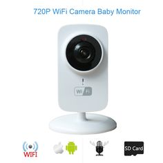 33.28$  Buy here - http://aihv7.worlditems.win/all/product.php?id=32630201232 - 2017 New baby camera 1.0megapixels CMOS camera IR night vision 2 way talk Motion Detection alarm 720P wifi camera baby monitors