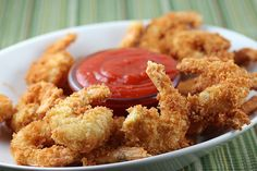 Fried Shrimp Recipe..Oh How I wish this could be low cal...so the rule is: Once in awhile