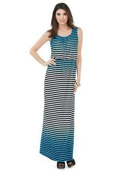 ae7bc7e48696 Cato Fashions Ombre Striped Maxi Dress #CatoFashions #CATOSUMMERSTYLE  Striped Maxi Dresses, Summer 2014