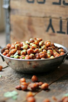 Spicy Roasted Chickpeas + Lemon Tahini Dressing