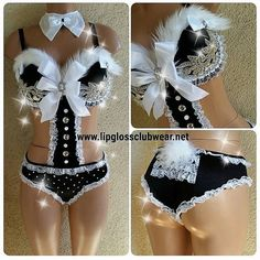 Costume and rave outfit Custom playboy bunny . Made to order . Email for us for to order . Size a-DDD or bigger bottom all size available Dresses
