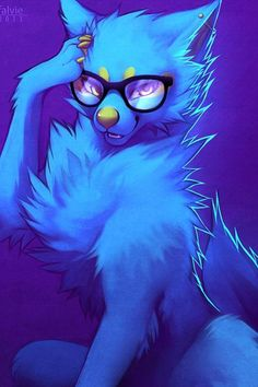 geeky wolf pup with glasses - Google Search