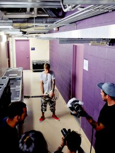 Justin Bieber on camera for #NEObiebermix