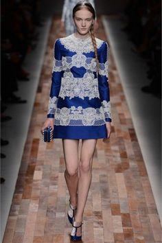 Minidress blu e bianco Valentino