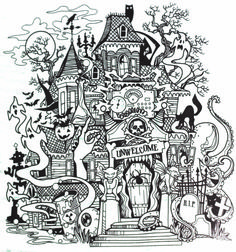 Inkadinkado Haunted House stamp