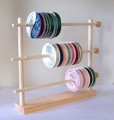 Spool Ribbon Holder Storage Rack Wire Organizer by DesignsbyDuane, $17.98