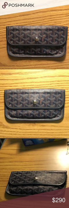 GOYARD WALLET/ POUCH Authentic blue Goyard. Great conditions. Feel free to make an offer! Goyard Bags Wallets
