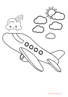 Free Airplane Coloring Page For Toddler