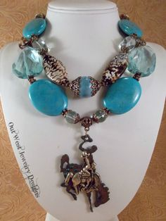 Western Cowgirl Statement Necklace Set  Chunky by Outwestjewelry