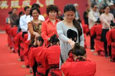 On May 1, 2013, nearly 40 young people dressed in traditional Han Chinese clothing revived the ancient Chinese coming-of-age ceremony outside the Han Great Wall relics in Xi'an, the capital city of Shaanxi Province. The ceremony draws great attention of both locals and tourists.   #China #Xian #Culture