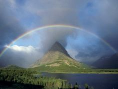 Rainbow over Grinelll Lake
