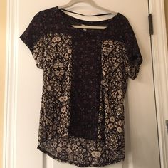 Urban Outfitters Blouse sheer light weight patterned blouse barely worn! Tops Blouses