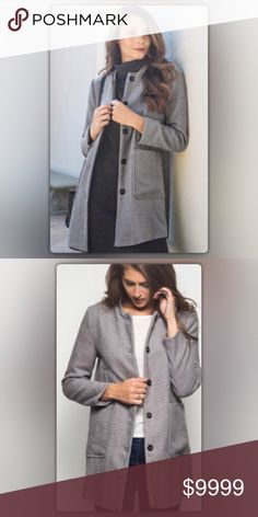 Coming Soon! The Elaina Collection Gray Coat Coming Soon! Gray is the new black! This go-with-everything coat will be your everyday favorite. The coat is fully lined and hits mid-thigh. It has two large front and a sleek design. Like to be notified when it arrives or comment to pre-order for only $85 ( Regular Price $99). NEW Boutique Jackets & Coats