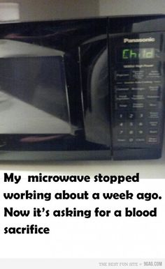 A fairly demanding microwave just for some simple pizza rolls