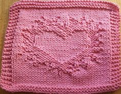 Knitting Patterns Dishcloth Heart on Fire Knit Dishcloth pattern by Lisa Millan Knitted Dishcloth Patterns Free, Knitted Washcloths, Crochet Dishcloths, Easy Knitting Patterns, Knitted Baby Blankets, Knitting Projects, Crochet Patterns, Knitting Squares, Knitting Stitches