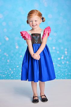 Girls Frozen Anna Dress Frozen Birthday dress by KateandLulus