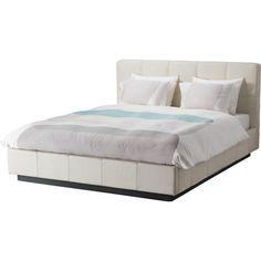 IKEA FOLLDAL Bed frame, Grann Robust white (€545) ❤ liked on Polyvore featuring home, furniture, beds, bed, casa, adjustable beds, slatted bed base, adjustable bed base, white head board and slat headboard