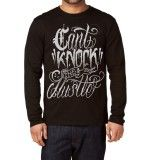 Can't Knock the Hustle Men's Long Sleeve Shirt in Black
