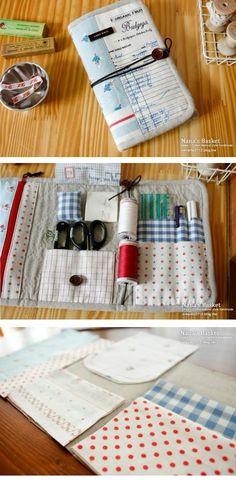 handmade portable sewing kit :D