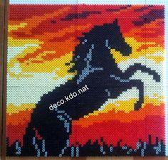 Horse hama perler beads (32x33cm) by Deco.Kdo.Nat