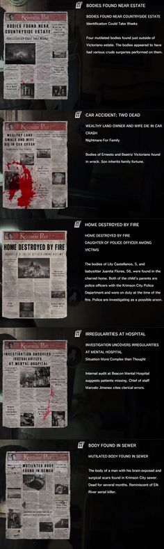 Newspaper clippings 13-17  .......The Evil Within