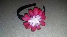 Red and white flower headband by ElegantHairbow on Etsy, $5.50