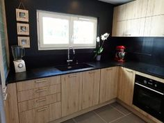 cuisine noir et or | Kitchens, Decoration and Interiors