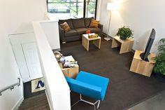Living room in Cedar Hall apartments