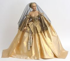 Collectible Prototype Wax doll Golden Infanta by Paul Crees and Peter Coe