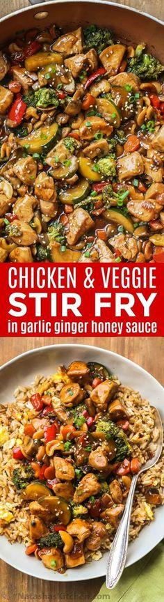 Stir Fry Recipes, Healthy Dinner Recipes, Cooking Recipes, Delicious Recipes, Veggie Stir Fry, Chicken Stir Fry, Salad Chicken, Pasta Salad, Easy Chicken Recipes