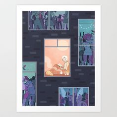 The Upside of Being an Introvert Art Print by Noelle Stevenson - $15.00