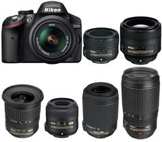 Nikon D3200 is an entry-level APS-C DX DSLR camera released in 2012. Nikon D3200 is replaced by Nikon D3300 is 2014. Today, we are going to showing you recommended lenses for Nikon D3200 camera.  50mm, 85mm Portrait Pirme Lenses| Zoom Lenses| Wide-Angle Lenses| Macro Lenses  Best 50mm, 85