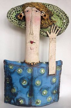 By Sarah Saunders. Slab Pottery, Ceramic Pottery, Pottery Art, Thrown Pottery, Pottery Wheel, Pottery Studio, Sculptures Céramiques, Sculpture Art, Ceramic Sculptures