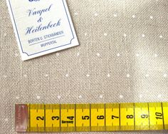 Leinen - 0,20 m STICKLEINENBAND 30 cm - ein Designerstück von Rosa4052-Stoffe bei DaWanda