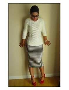 Midi Pencil Skirt - DIY Skirt: Self Drafted Pencil Midi Skirt  Fashion, Lifestyle, and DIY