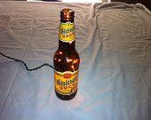 lighted beer bottle