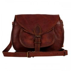 Women Vintage Looking Brown Leather Messenger Bag Handmade Purse Cross Body Bag 827160018313 Brown Leather Crossbody Purse, Crossbody Shoulder Bag, Shoulder Handbags, Leather Purses, Leather Handbags, Leather Bags, Leather Craft, Soft Leather, Shoulder Bags