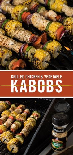 What's on your Father's Day menu? Give Grilled Chicken and Vegetable Kabobs the Grill Mates Montreal Chicken Seasoning treatment tonight. The bold taste of our signature blend of McCormick garlic and herbs amps up flavor at the grill - big time. Kabob Recipes, Grilling Recipes, Cooking Recipes, Healthy Recipes, Cooking Ideas, Grill Meals, Cooking Blogs, Cooking Oil, Cooking Light