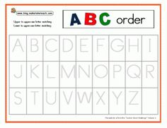 2 Free Alphabetic Order templates to be used with a cookie sheet and magnetic letters.  Great for your kindergarten literacy center!