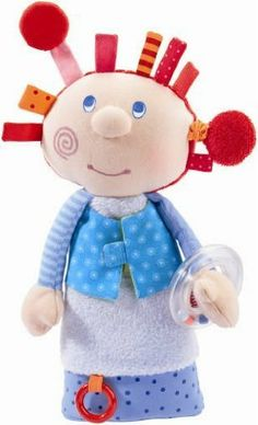HABA Puppet Little Miss Fidget by HABA. $19.94. Measurements: approx 30 cm. Materials: cotton/polyester. HABA 2443 - HABA 2443 - Play doll Little Miss Fidget. Little Miss Fidget is a cuddly glove puppet with many extras. She likes to snuggle up and is always ready to play, with one of her many surprises for small explorers at hand. Her mysterious rustling arm and wind-up fidgeting hair make everybody laugh. The hands are magnetic and a little mirror is hidden und...