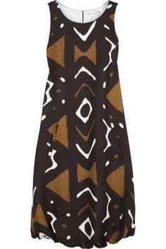 Oscar de la Renta|African-print dress|NET-A-PORTER.COM