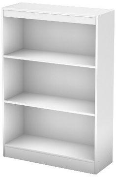 South Shore 3 Shelf Pasadena Bookcase Pure White. #ad http://shopstyle.it/l/n5wP